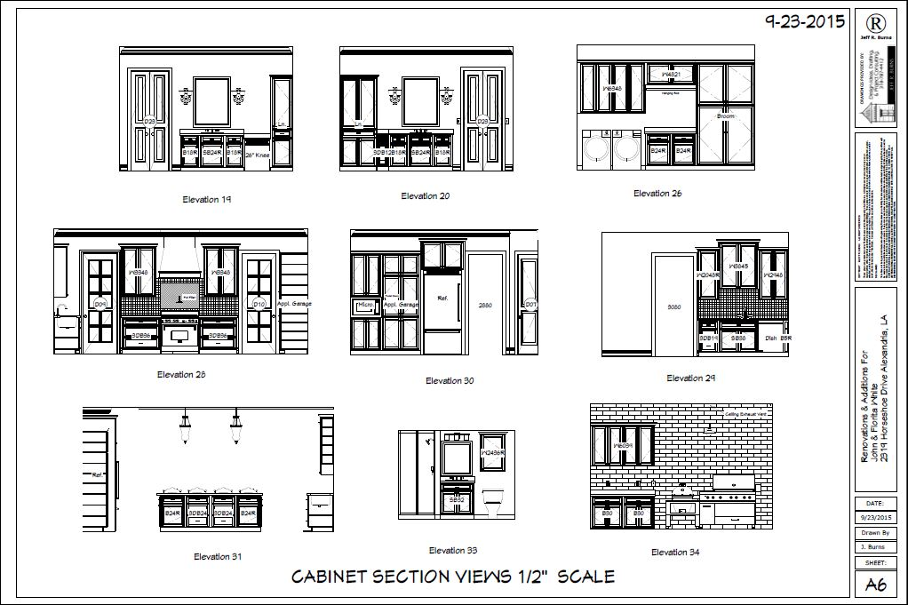 Cabinets Sections