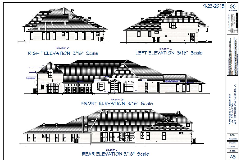 Elevations Drawings