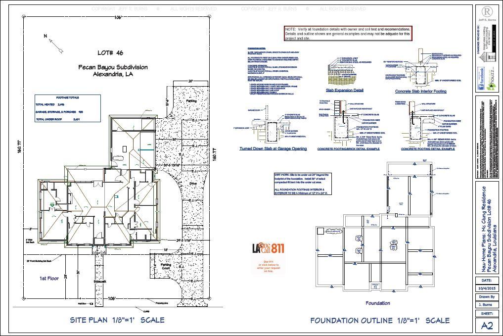 Site Plan & Foundation Outline