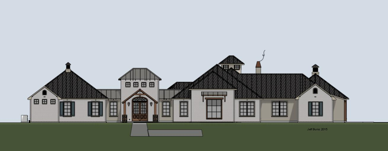 Sprawling Rustic Estate Plan #3963-6086