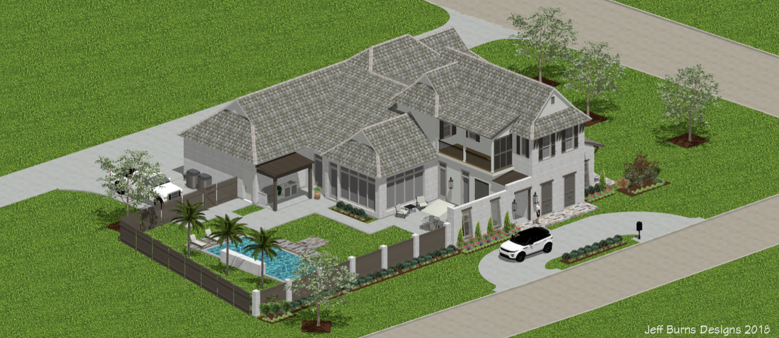 New Coming Soon!! - Louisiana West Indies Styled Custom Home Design