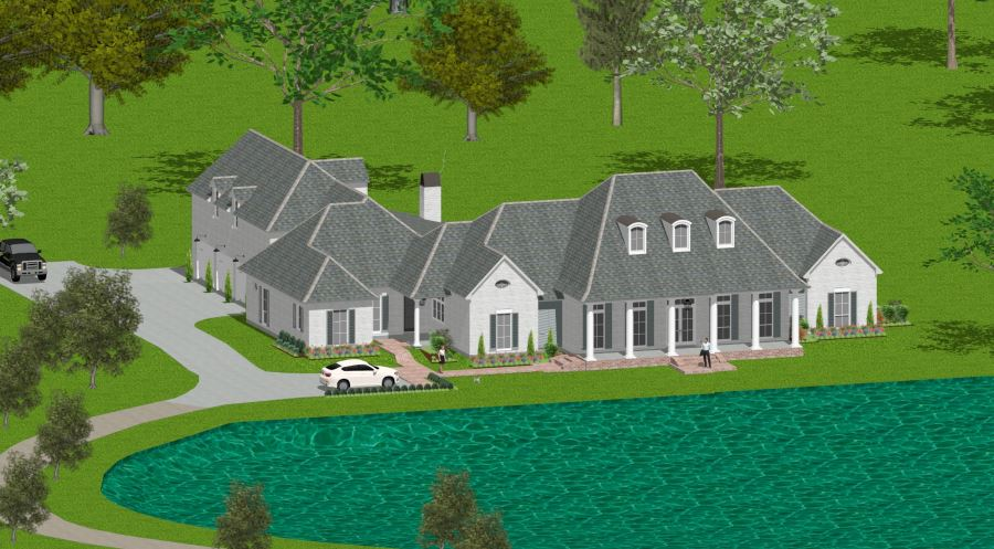 Custom Home Design Example - Southern Plantation Styled Home
