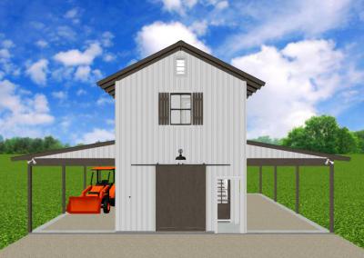 Barn-Dominium-523-1483-Farmhouse-Louisiana-Stock-Plan-Jeff-Burns-Designs