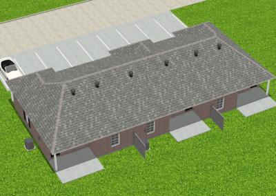 Brick-Triplex-2988-3462-Louisiana-Stock-Plan-Jeff-Burns-Designs-4