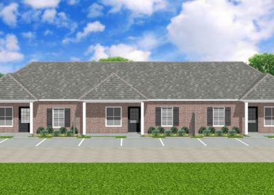 Brick-Triplex-2988-3462-Louisiana-Stock-Plan-Jeff-Burns-Designs