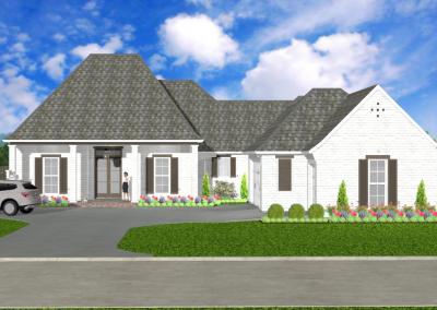 White Acadian-2449-3756-Lousiana-Stock-Plan-Jeff-Burns-Designs